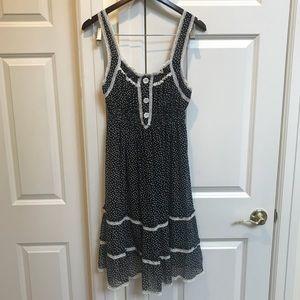Dresses & Skirts - Black and White Polka-Dot French-maid Style Dress